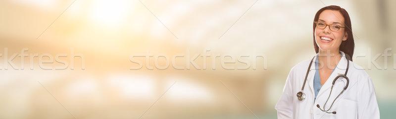 Homme médecin infirmière pharmacien chambre Photo stock © feverpitch
