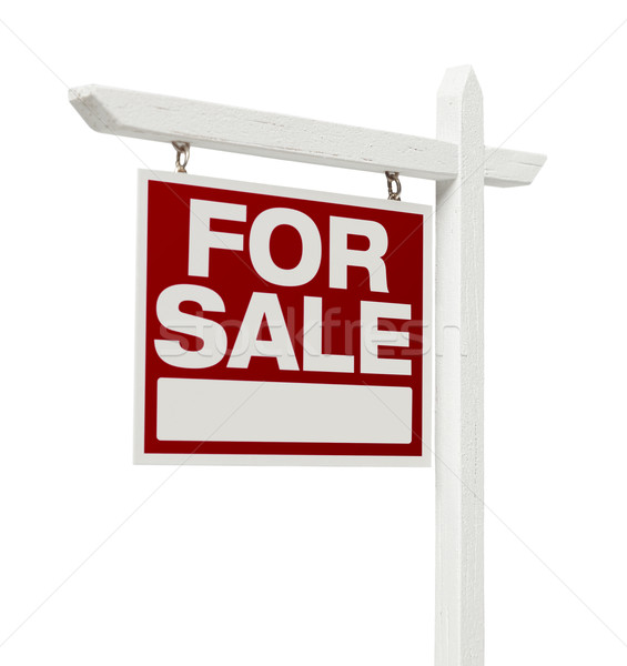 Home For Sale Real Estate Sign with Clipping Path Stock photo © feverpitch