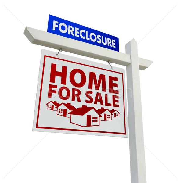 Rosso blu preclusione home vendita immobiliari Foto d'archivio © feverpitch