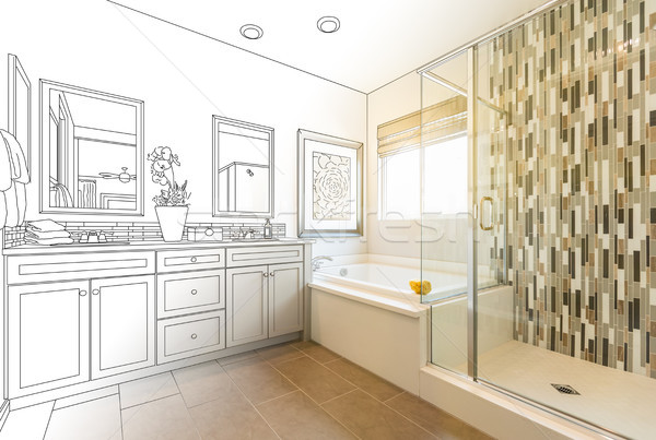 Bathroom sketch Stock Photos, Stock Images and Vectors ...