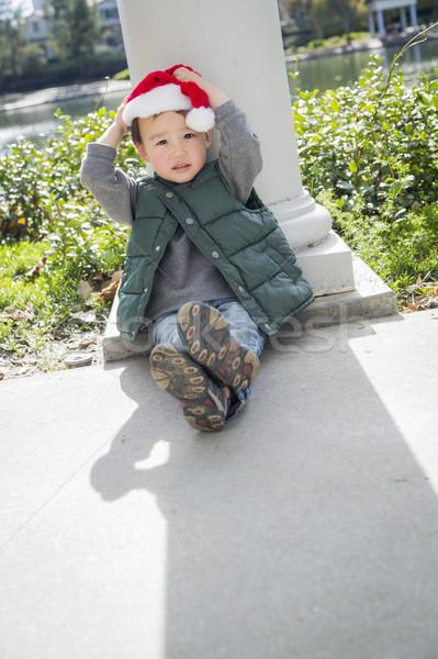 Сток-фото: Cute · мальчика · Рождества