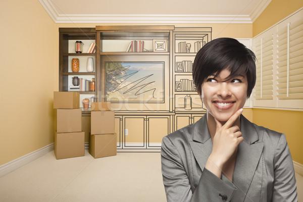 Kobiet pokój rysunek rozrywki jednostka Zdjęcia stock © feverpitch