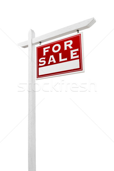 Right Facing For Sale Real Estate Sign Isolated on a White Backg Stock photo © feverpitch