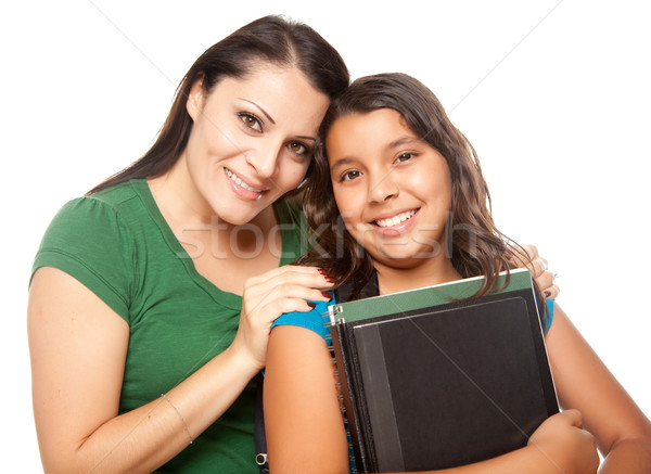 Hispanic Mother and Daughter Ready for School Stock photo © feverpitch