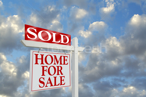 Sold Home For Sale Sign Stock photo © feverpitch