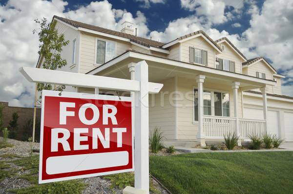 Alugar imóveis assinar casa direito Foto stock © feverpitch