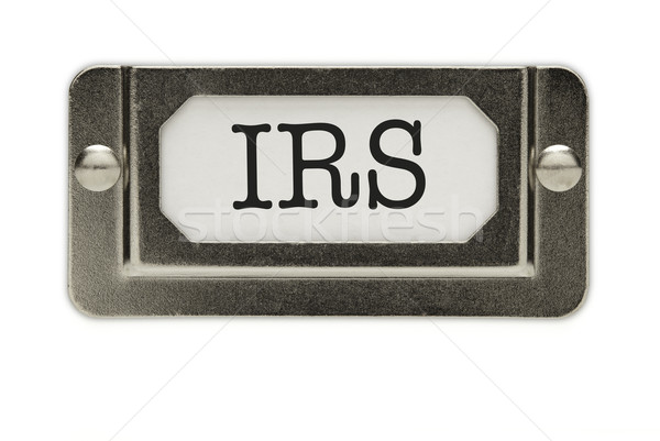 IRS File Drawer Label Stock photo © feverpitch
