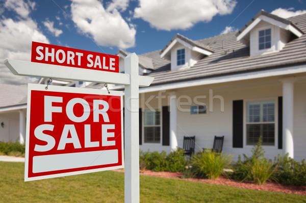 Zdjęcia stock: Krótki · sprzedaży · nieruchomości · podpisania · domu · domu