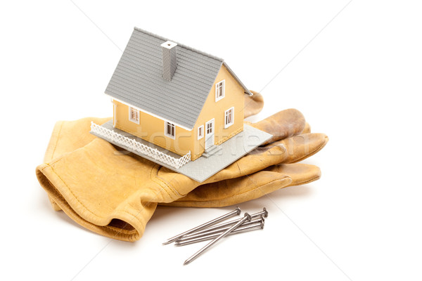 House, Gloves and Nails Stock photo © feverpitch