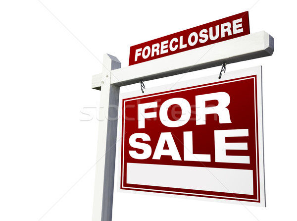Foreclosure For Sale Real Estate Sign Stock photo © feverpitch