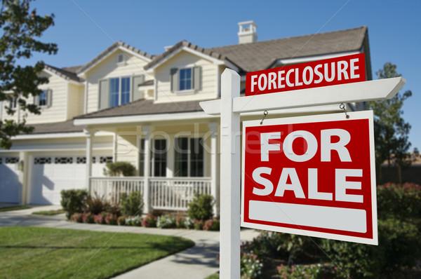 Zálogjog érvényesítése otthon vásár felirat ház gyönyörű Stock fotó © feverpitch