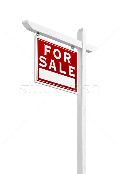 Left Facing For Sale Real Estate Sign Isolated on a White Backgr Stock photo © feverpitch