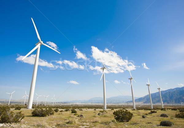劇的な 風力タービン ファーム 砂漠 カリフォルニア 風景 ストックフォト © feverpitch