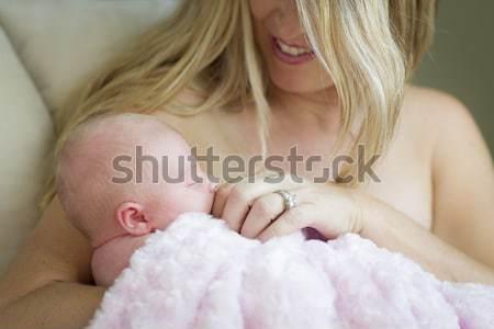 Giovani bella madre prezioso Foto d'archivio © feverpitch