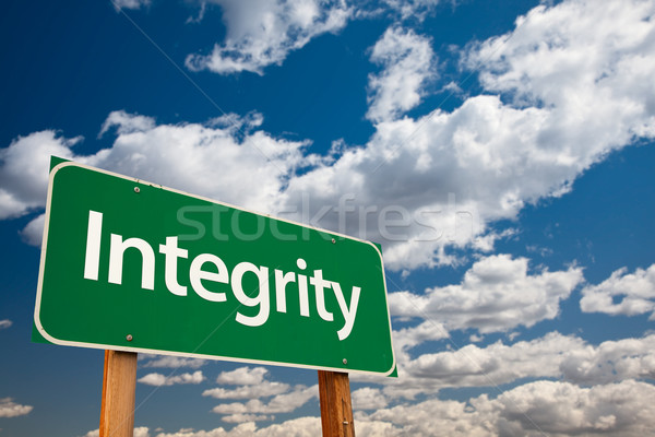 Integrity Green Road Sign Stock photo © feverpitch