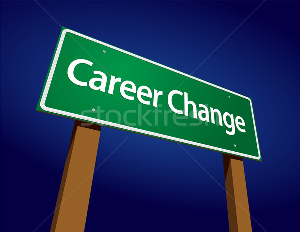 Career Change Green Road Sign Illustration Stock photo © feverpitch
