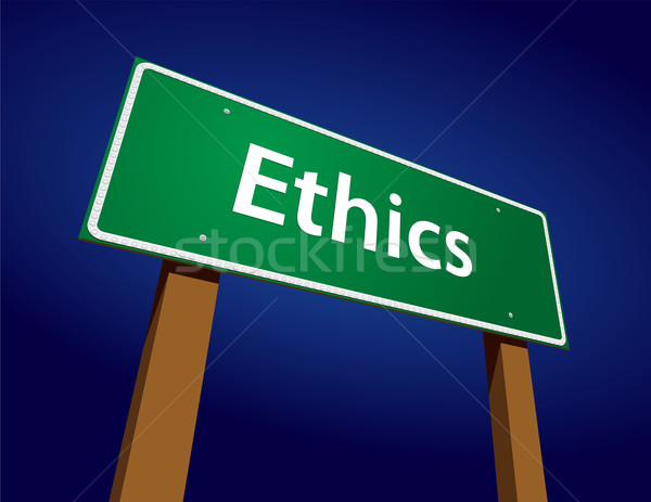 Ethics Green Road Sign Illustration Stock photo © feverpitch