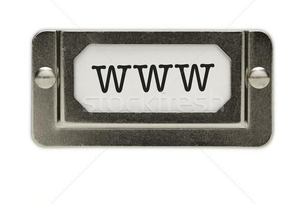 Www archivo cajón etiqueta aislado blanco Foto stock © feverpitch