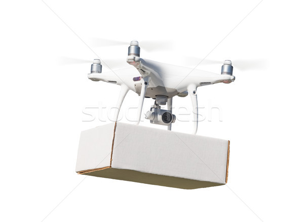 Unmanned Aircraft System (UAS) Quadcopter Drone Carrying Blank P Stock photo © feverpitch