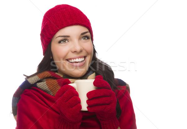 Stok fotoğraf: Kadın · eldiveni · kupa