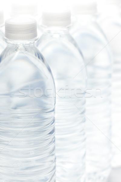 Wody butelek streszczenie odwracalny obraz częściowo Zdjęcia stock © feverpitch