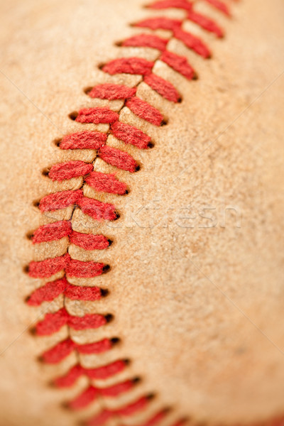 Makro Detail getragen Baseball abstrakten Leder Stock foto © feverpitch