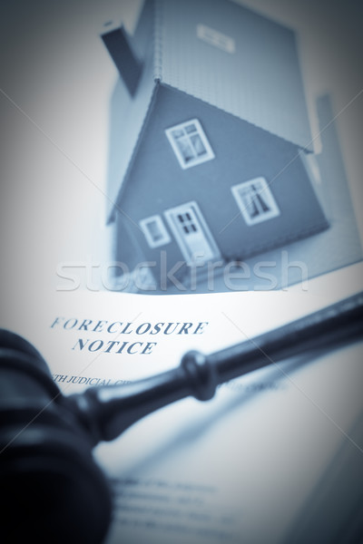 Foreclosure Notice, Gavel and Home Duotone Stock photo © feverpitch