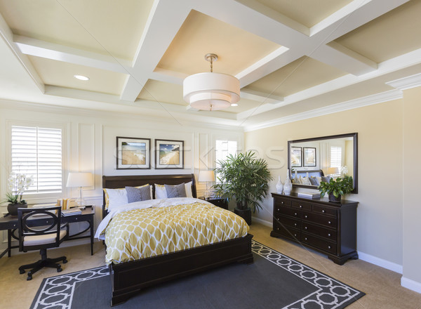 Interior of A Beautiful Master Bedroom Stock photo © feverpitch