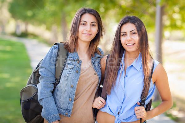 два красивой молодые этнических близнец Сток-фото © feverpitch