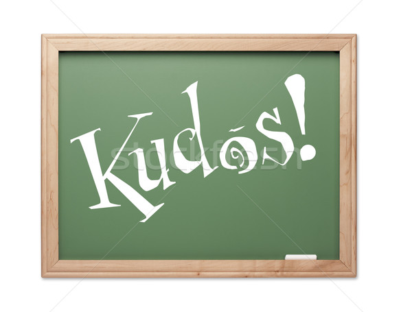 Kudos! Green Chalk Board Series Stock photo © feverpitch