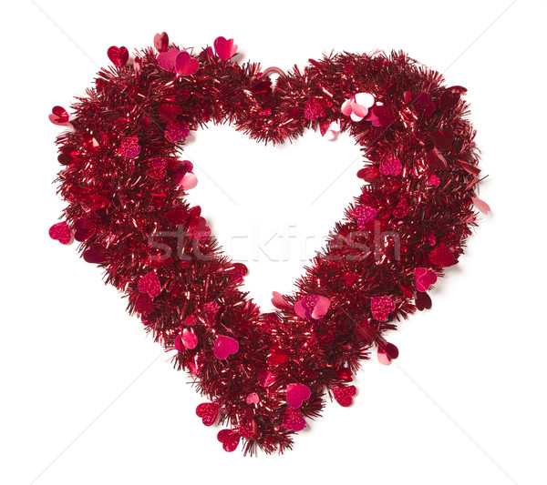 Heart Shaped Shiny Tinsel with Small Hearts Stock photo © feverpitch