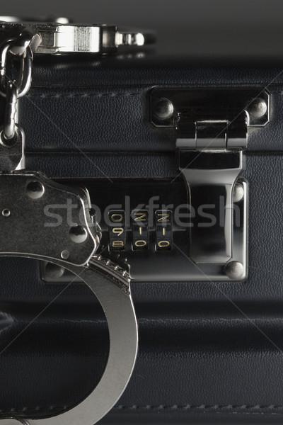 ペア 手錠 ブリーフケース 911 ロック 番号 ストックフォト © feverpitch