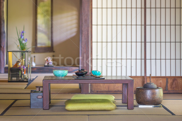 Traditional Interior Japanese Dining and Other Room. Stock photo © feverpitch