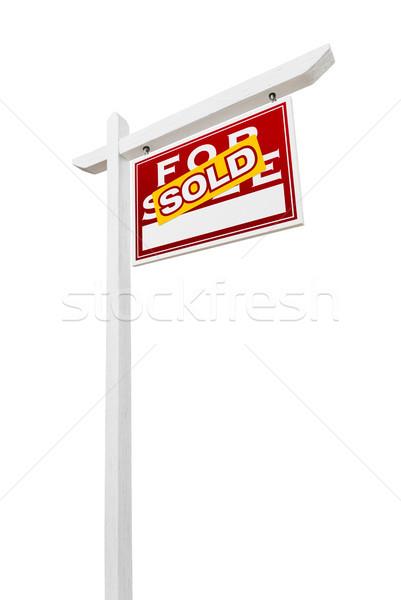 Helyes szemben eladva vásár ingatlan felirat Stock fotó © feverpitch
