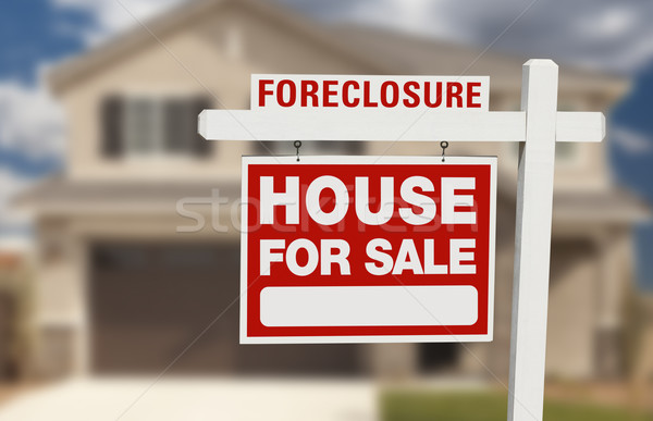 Foreclosure House For Sale Sign and House Stock photo © feverpitch