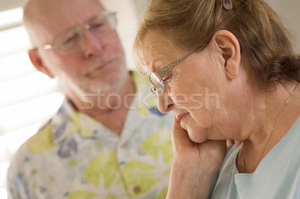 Kıdemli yetişkin erkek üzücü kadın adam Stok fotoğraf © feverpitch