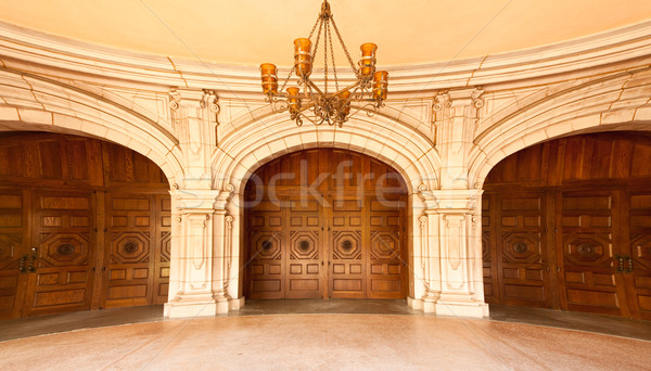 Majestic Classic Arched Doors with Chandelier, Stock photo © feverpitch
