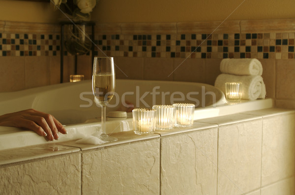 Woman in Bath Stock photo © feverpitch