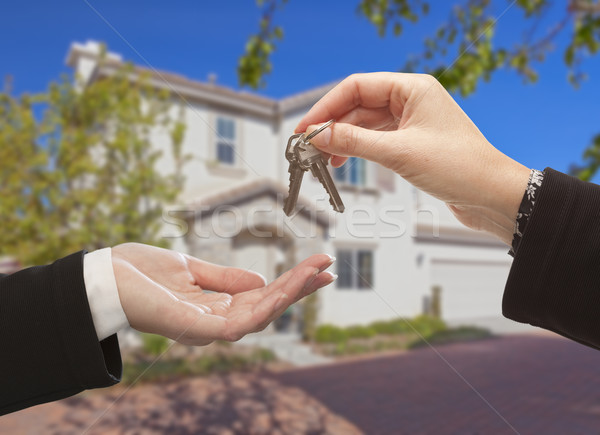 Handing Over The Keys and New House Stock photo © feverpitch