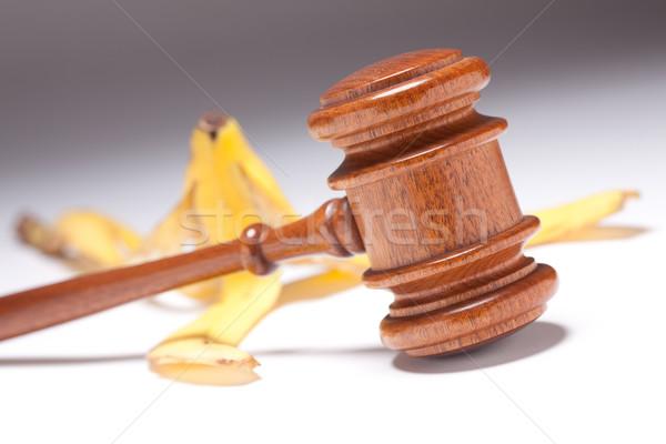 Martelletto banana messa a fuoco selettiva industria giustizia Foto d'archivio © feverpitch