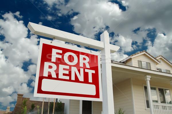 Zdjęcia stock: Wynajem · nieruchomości · podpisania · domu