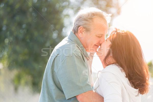 âge moyen couple jouir de romantique lent danse Photo stock © feverpitch