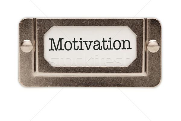 Motivation File Drawer Label Stock photo © feverpitch