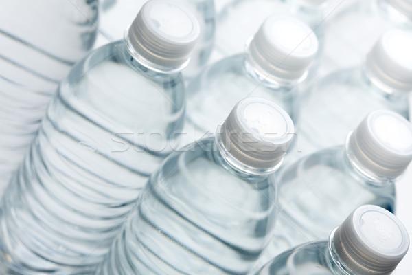 Wasser Flaschen abstrakten Bild Frühling trinken Stock foto © feverpitch
