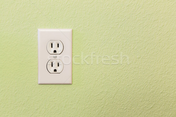 Elektrik renkli duvar ev ev endüstriyel Stok fotoğraf © feverpitch