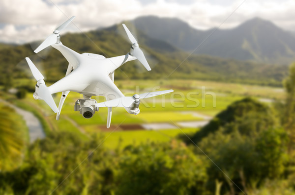航空機 空気 谷 ファーム フィールド 空 ストックフォト © feverpitch