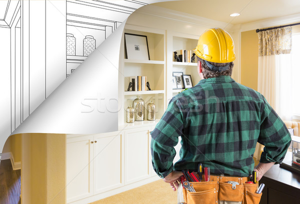Contractor Facing Built-in Shelves and Cabinets Photo with Page  Stock photo © feverpitch