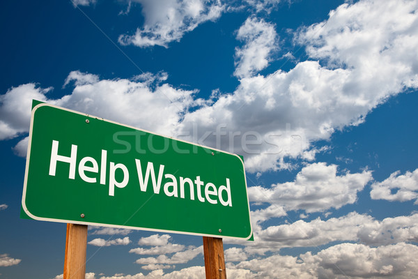 Help Wanted Green Road Sign Stock photo © feverpitch