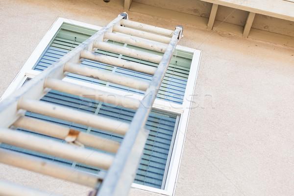 строительство лестнице дома алюминий промышленных Сток-фото © feverpitch