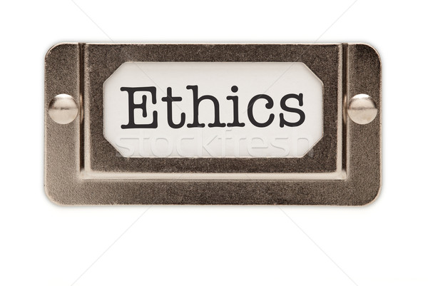 Ethics File Drawer Label Stock photo © feverpitch